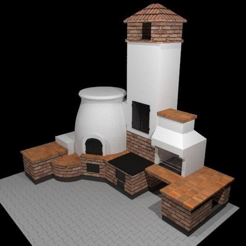 Проектирование Печей и каминов (3D визуализация)  Савино