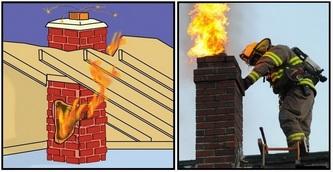 Защита печи (камина) от пожара