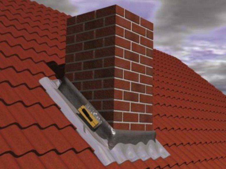 Заливает вода с крыши на печь