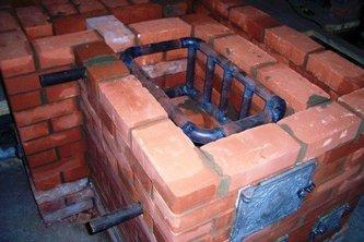 кладка Печи с водяным отопительным контуром баком-водонагревателем котел-теплообменник