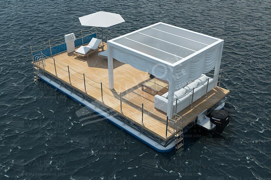 Плавучие платформы, причальные сооружения, плавучее сооружение