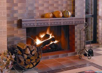 Отделка керамической плиткой печей и каминов